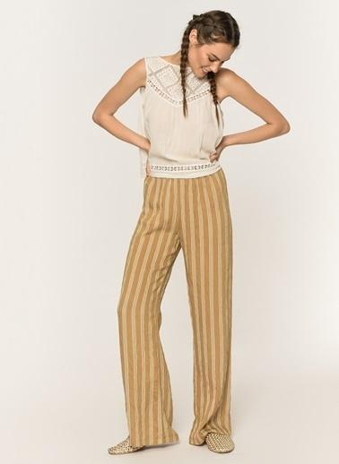 Loves You Beli Lastikli Relax Fit Pantolon Camel